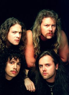 Metallica - one of the most know posters.....I'm sure this was on a bedroom wall in our house ,