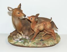 Vintage Marks And Rosenfeld Deer With Fawn Figurine Homco Home Interior |  EBay