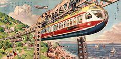 Illustration by the prolific Shigeru Komatsuzaki (1915-2001), whose fantastic work appeared on plastic model kit boxes and in magazines and picture books in the 1960s to 1970s. https://uk.pinterest.com/davygibbs/sci-fi-art-shigeru-komatsuzaki/