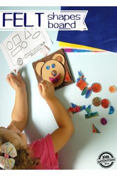 How to Make a Felt Shape Game for Kids {FREE Printable}