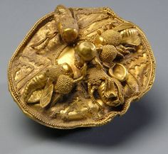 Etruscan Gold Disc with Bees, 700-600 BCE. Collection of Nasher Museum of Art at Duke University -
