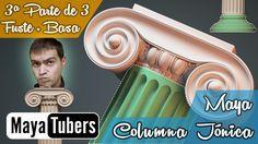 Tercera y Última parte de tres de Modelar una Columna Jónica con Autodesk Maya en Español!! Nivel: Profesional !!