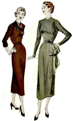 New Dress Pattern Vogue Fashion Ideas Vogue Dress Patterns, Vintage Dress Patterns, Skirt Patterns, Coat Patterns, Blouse Patterns, Clothes Patterns, 1940s Dresses, Vintage Dresses, Casual Dresses