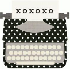 Silhouette Online Store: xoxotypewriter