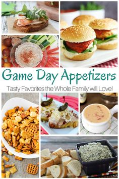 Delicious and tasty game day appetizers that the whole family will love!