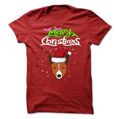Merry Christmas With A BASENJI T-Shirts, Hoodies. GET IT ==► https://www.sunfrog.com/Christmas/Merry-Christmas-With-A-BASENJI.html?id=41382