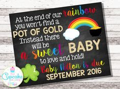 St. Patrick's Day Pregnancy Announcement by MyLilCupcakeCo