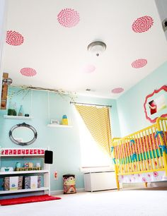 The ceiling is in full bloom! #pinparty #nursery