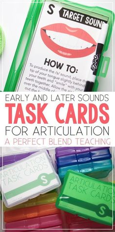 Articulation Task Cards are perfect to complete during your therapy sessions, checked-out to teachers to support the Response to Intervention process or as a center in the classroom to help promote carry-over.