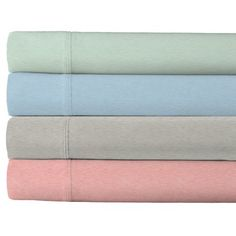 Hua Fang USA Heather Touch 200 Thread 100pct Cotton Count Sheet Set (Set of 4), Blue