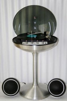 Stereo record player & radio, produced by Canadian electronics company, ELectrohome, in 1971