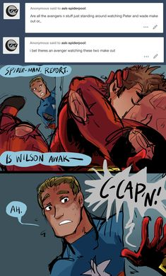 Ask Spider-Man and Deadpool! Marvel Funny, Marvel Memes, Marvel Dc Comics, Marvel Avengers, Spideypool, Superfamily Avengers, Deadpool Und Spiderman, Chibi, Marvel Couples