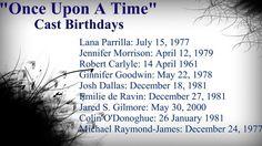 Evil Queen, Emma Swan, Rumplestiltskin, Snow White, Prince Charming, Belle, Henry Mills, Captain Hook, & Neal Cassidy.