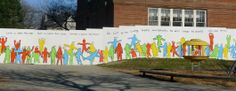 Jack Layton Quote Mural at Toronto School. I love the simplicity of this one.