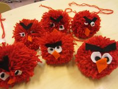 Angry Birds -tupsut Art Projects, Projects To Try, Crafts For Kids, Arts And Crafts, Textiles, Angry Birds, Teaching Art, Animals For Kids, Craft Fairs