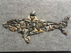 Shark made entirely out of sharks teeth. by SharkyBeads on Etsy