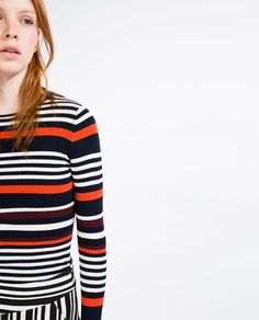 Image 3 of MULTICOLORED STRIPED SWEATER from Zara