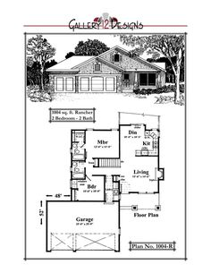 1004-R Plan Garage, Garage Floor Plans, House Floor Plans, Building Plans, Building Ideas, Best Home Plans, Sims 4 Houses, Cottage Living, Small House Plans