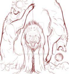 Sketch_Ragnarok WIP by Ragnarok-Fenrir.deviantart.com on @DeviantArt