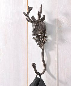 Deer Head Iron Wall Hook