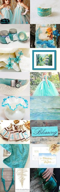 Turquoise day by Juliya Grin on Etsy--Pinned with TreasuryPin.com