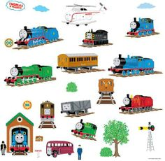 RoomMates RMK1035SCS Thomas The Tank Engine and Friends Peel and Stick Wall Decals by RoomMates. $8.62
