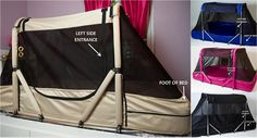 The courtney bed hand crafted pediatric special needs - Enclosed beds for adults ...