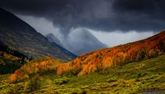 dailyautumn:  Storms Of The West Elks by kkart