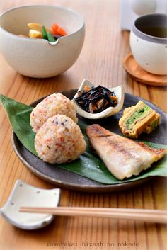 Japanese Lunch with Rice Balls