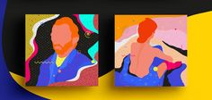 Abstract series about Famous Paintings Interpretation on Behance #illustration #pattern