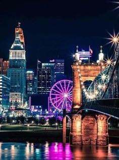 The cheapest cities to live in after graduation, with cheap rent and affordable cost of living. Great Places, Places To See, My Old Kentucky Home, Ohio River, City Photography, City Lights, Tower Bridge, Night Life, Cool Photos