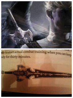 It's Sebastian's sword...*fangirls* Cover for 'City of Heavenly Fire' and pg. 16 of 'The Shadowhunter's Codex'
