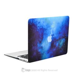 """Blue Galaxy Graphic Rubberized Hard Case for MacBook Air 13"""" Model A1369 and A1466"""