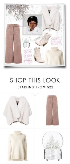 """DRAMA! WHITE is perfect for a glamour winter"" by natalyapril1976 ❤ liked on Polyvore featuring BLANCHA, Topshop, Joseph, Naomi Campbell and Carlos by Carlos Santana"