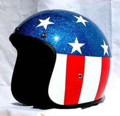 Masei 611 US Flag Metal Flake Open Face Motorcycle Helmet for Harley Davidson Bikers