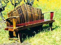 Whiskey Barrel Bench