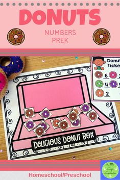 These Donuts Number Lessons are the perfect addition for Math Centers for homeschool/ preschool. This time saving, leveled resource is engaging with its vibrant pictures and stimulating content! Your multi-aged 4-6 year old children will enjoy learning about Donuts and numbers with these interactive lessons. Morning Activities, Pre K Activities, Number Activities, Numbers Preschool, Preschool Math, Maths, Time Saving, Math Centers, Donuts