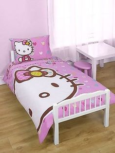 Hello #kitty folk #panel junior cot bed #duvet cover set quilt,  View more on the LINK: 	http://www.zeppy.io/product/gb/2/150959926635/