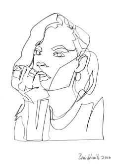 Continuous line drawing by Boris Schmitz Week 1 / Illustration Pen used The use of continuous lines is the main feature.