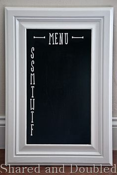 Shared and Doubled: Cabinet Door Menu Board