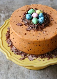 Speckled Egg Chocolate Cake