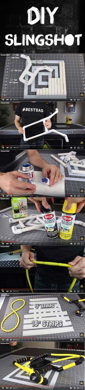 DIY Slingshot: Make Your Own Skyblaster Slingshot   How To Make Survival Gear by Survival Life at http://survivallife.com/2015/08/13/diy-slingshot-skyblaster-slingshot/