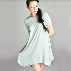 Mint Green Bohemian Unbalanced Swing Dress ????New Arrival????  ??Short Sleeve Mint Boho Unbalanced Swing Dress??  ??96% Rayon 4%Spandex Made In The USA...Additional Sizes Avail: Small, Medium, Large??          ??No Trade Price Firm?? ??Ships Same Or Next Day?? Dresses Asymmetrical