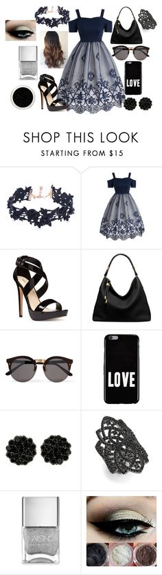 """Bad Liar"" by haley-16-16 ❤ liked on Polyvore featuring Vanessa Mooney, Nine West, Michael Kors, Illesteva, Givenchy, nOir and Nails Inc."