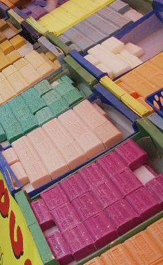 We found that cool store of french soaps, so many colors and fragrances!