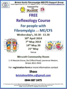 If you are from Bristol and/or surrounding area you may be interested in our FM.E Free Reflexology Course. There are a few places left. FM.E carers are welcome on the course too.