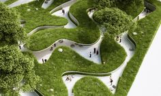 Penda's winding green pathway at the 2015 Garden Expo lets visitors experience life as a river Penda Wuhan Garden Expo 2015 Where the River Runs Pathway 2 – Inhabitat - Sustainable Design Innovation, Eco Architecture, Green Building
