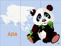 Animal Cards, Continents, Around The Worlds, Japan, Children, Petra, Animals, Puzzle, Korea