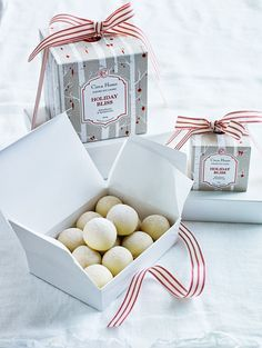 elderflower, coconut and white chocolate truffles from donna hay