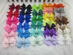 20 hair bows for baby girls hair bows   hair by KellyBowieDesign, $18.00